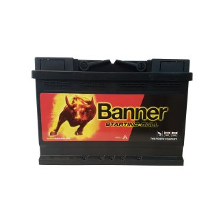 AKUMULATOR BANNER STARTING BULL 12V 72AH 650A